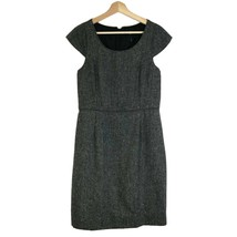 J CREW Women's Sz 8 Tweed Suiting Dress Gray Cap Sleeves. - $32.71
