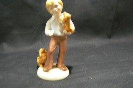 Avon Porcelain Best of Friends Boy with Puppies 1981 - $8.41