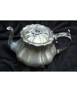Antique James Dixon & Sons Tea Pot Best Britannia Metal #71898 - $74.23