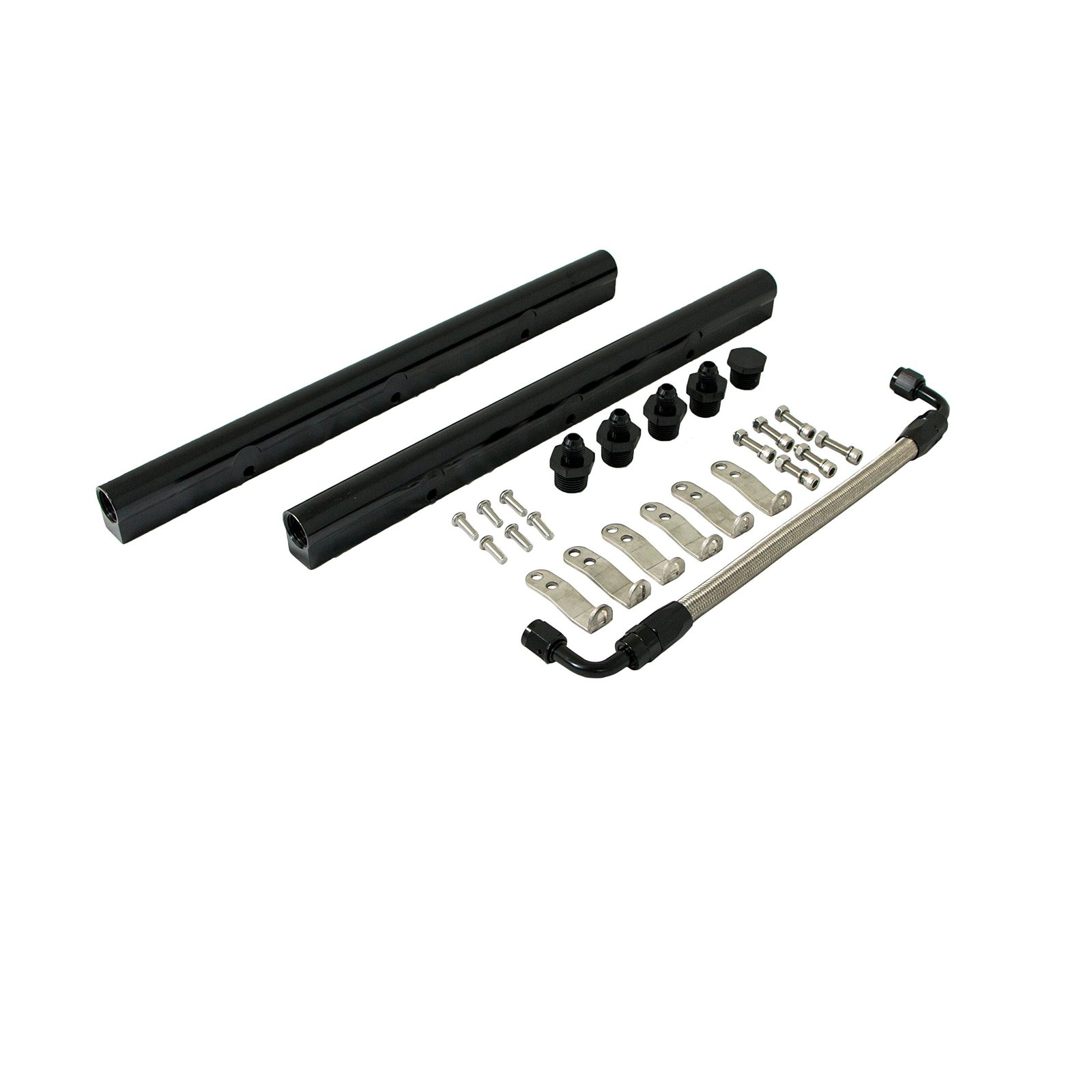 Top Street Performance 81008BK Black Fuel Rail with Middle Pipe