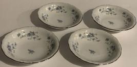 4 Johann Haviland Blue Garland Serving Berry Fruit Dessert Bowls Dinnerware - $26.99