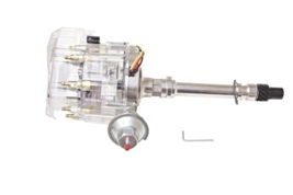 Proheader PE350C - Chevy HEI V8 Vacuum Advance Distributor with 65k Coil & Cl...