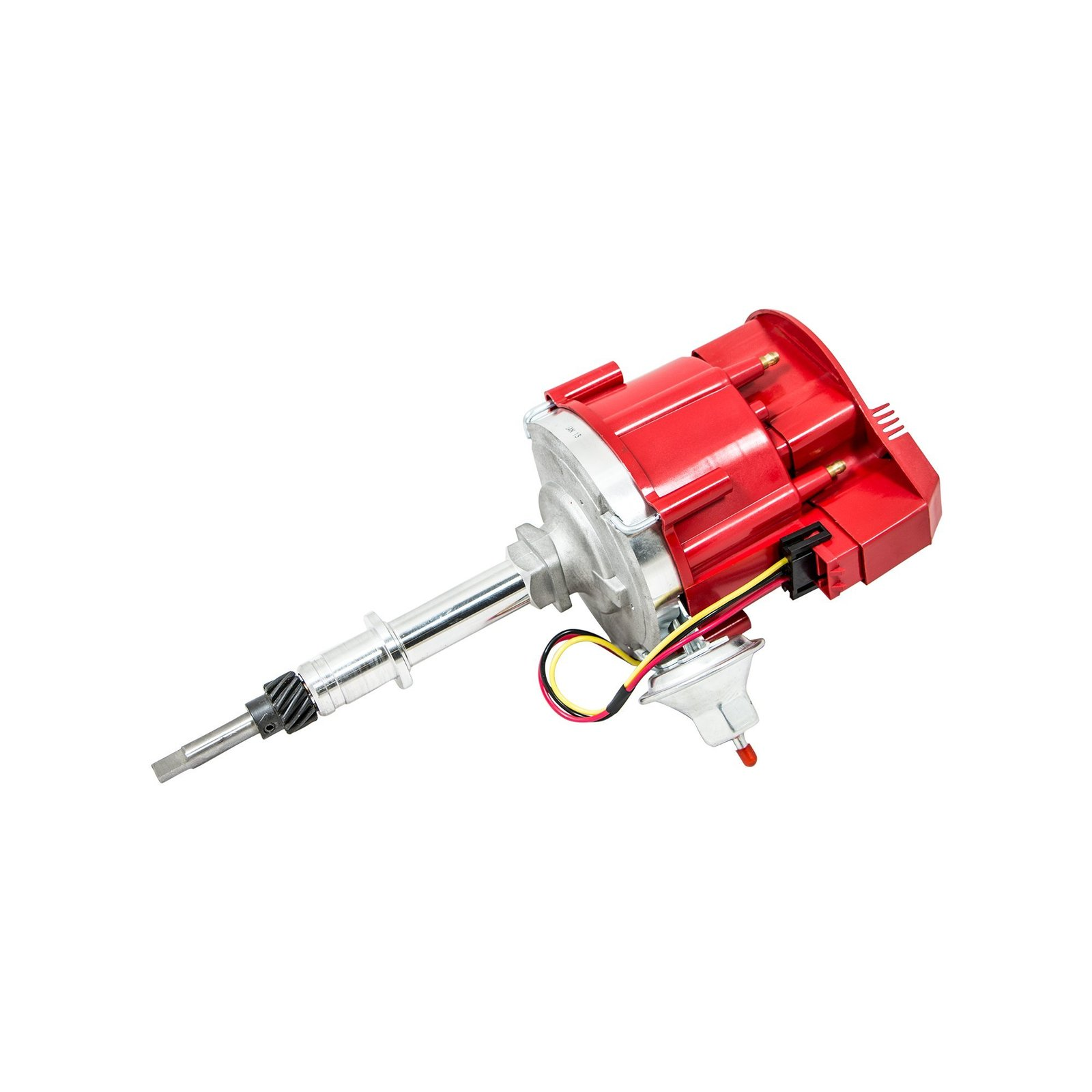 Top Street Performance JM6522R HEI Distributor with Red Flat-Cover Super Cap ...