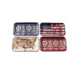 Demdaco American Backroads Melamine Serving Trays - Set of 4 - $29.92