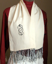 VIntage scarf. Gatsby style.   Vintage scarf with fringe and embroidery.... - $18.00