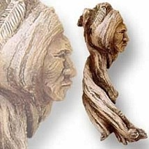 "The ""Old Warrior"" Wall Hanging Sculpture Home Decoration - $29.25"
