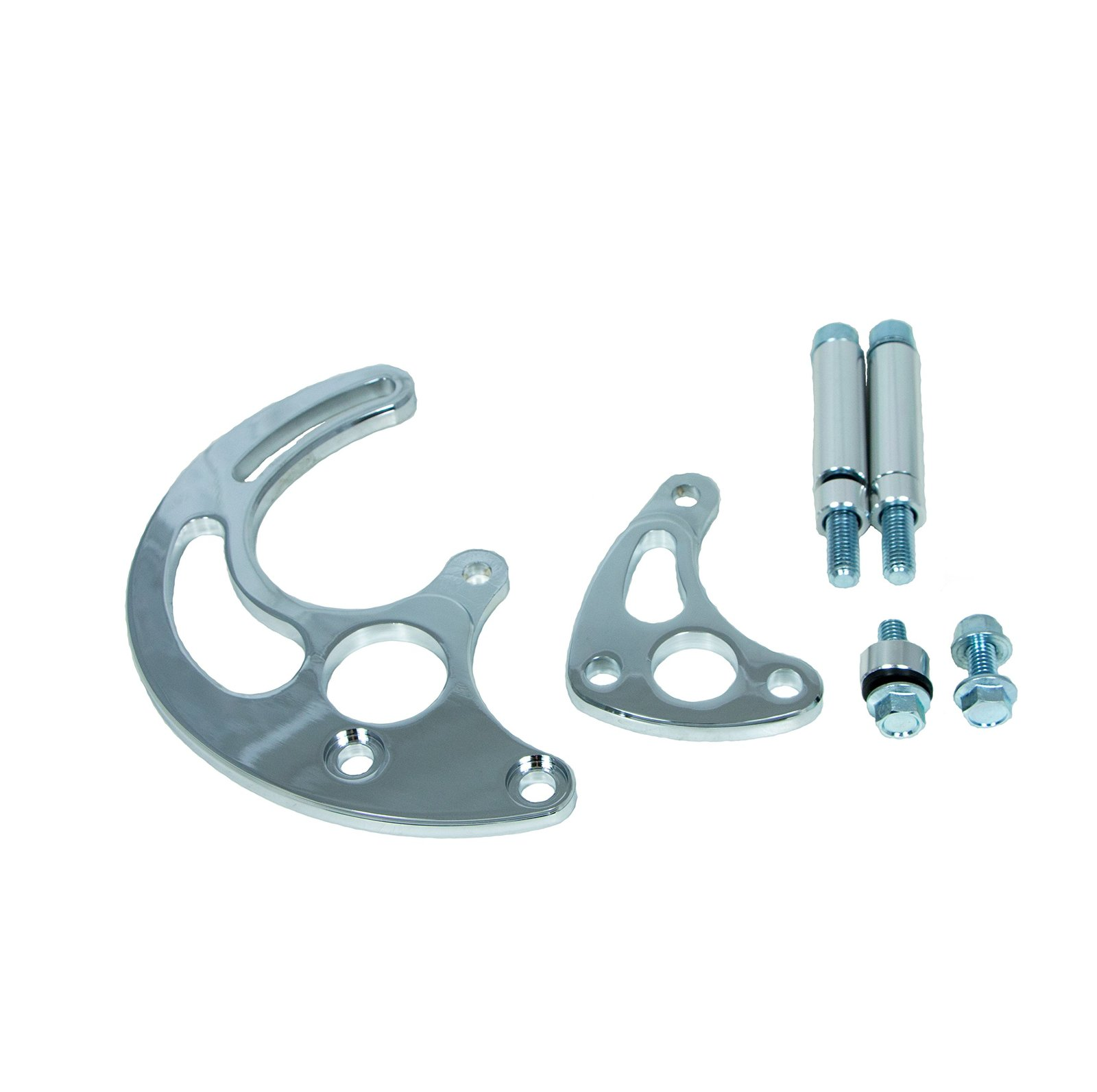 Top Street Performance JM9115C Chrome Power Steering Pump Bracket Kit for Lon...