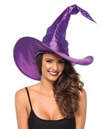 Leg Avenue A274122053 Large Ruched Witch Hat - One Size, Purple - $19.95