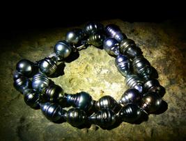HEALING PRACTICE Let It Go Rare Tahitian South Sea Pearls izida haunted no Djinn - $550.00