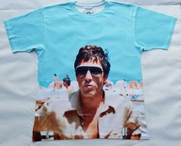 Scarface Tony Montana Beach T Sublimated shirt miami crime gangster coke drugs - $33.99