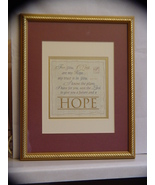 Beautiful Framed Hope Calligraphy (Jeremiah 29:11)  - $26.99