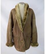 Vtg 70s Tan Sheepskin Leather Shearling Fur Lin... - $74.23