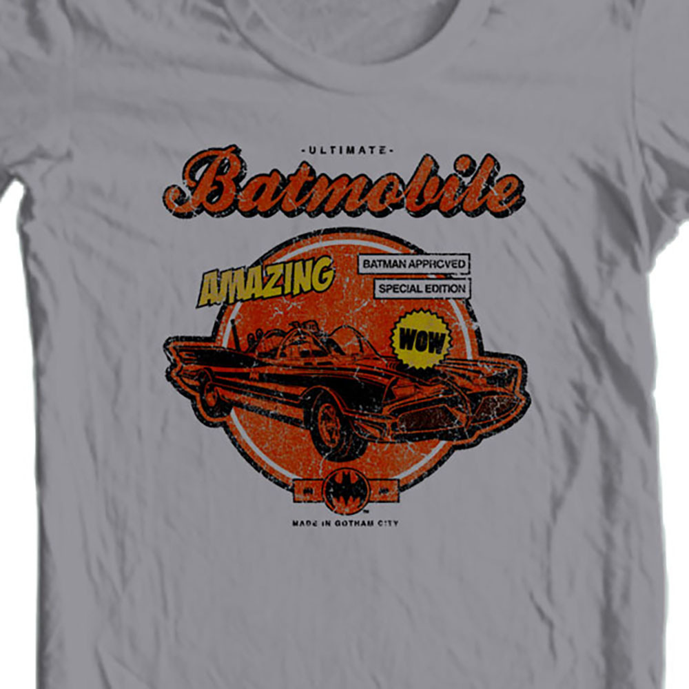 Bat man batmobile graphic t shirt bm1904