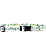 Large Winter Trees Dog Collar 18-28 inch - $11.79