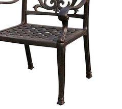 Patio dining chair outdoor cast aluminum Flamingo furniture Bronze rust free image 2