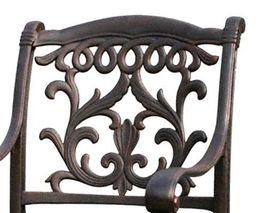 Patio dining chair outdoor cast aluminum Flamingo furniture Bronze rust free image 3