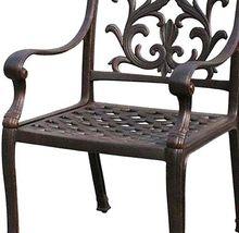 Patio dining chair outdoor cast aluminum Flamingo furniture Bronze rust free image 4
