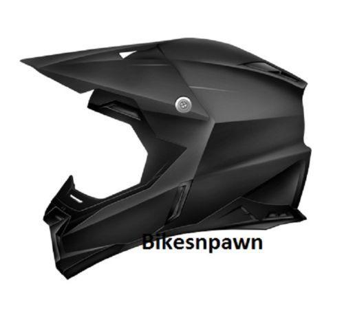 New Adult XL Zoan Synchrony MX Matte Black Motorcycle Helmet 521-007