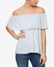 Sanctuary Misha Cotton Off-The-Shoulder Flounce Top - Loom Stripe Large - $25.35 CAD