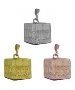 Rose / Gold Plated / Sterling silver Kaaba Mecca Hajj Charm Pillar Islam... - $18.75+