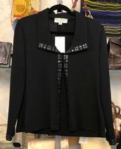 St. John Evening Black Jacket With Beaded Trim Sz 6 $1295 - $311.97