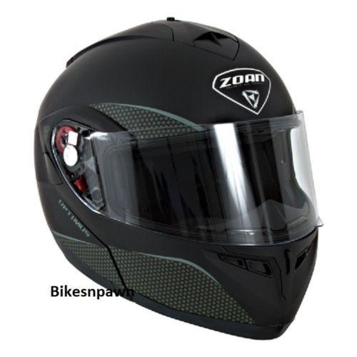 New S Zoan Optimus Matte Black Modular Motorcycle Helmet 038-034