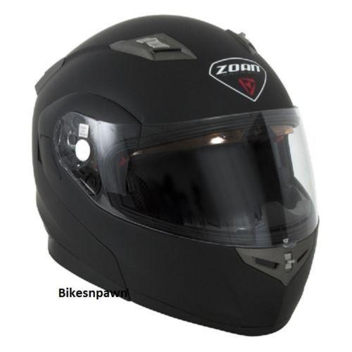 New XS Zoan Optimus Matte Black Modular Motorcycle Helmet 038-033