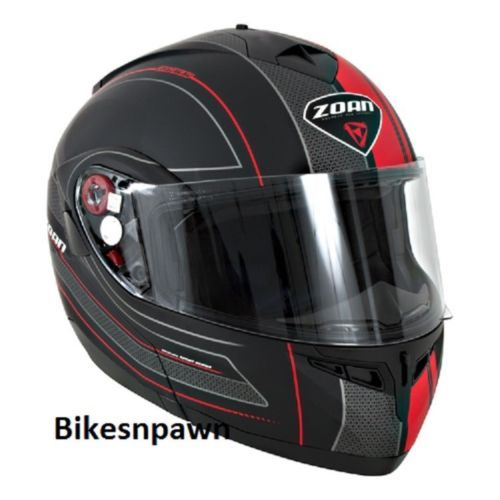 New XS Zoan Optimus Black & Red Raceline Modular Motorcycle Helmet 138-103