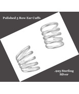Polished Sterling Silver Scroll Design Ear Cuffs - $19.95