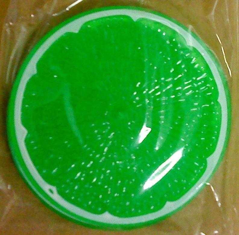 4 Round Plastic Coasters Fruit Slice Green - $3.25