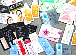 Korean Beauty Foil Packet Samples 10-Piece Bag + Gift - $20.00