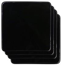 Gas Burner Covers Square Kitchen Home Stove Top Set of 4 Black Reston Ll... - $20.92