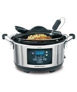 6 QUART SLOW COOKER Automatic Program Crock Pot Large Electric Casserole... - £86.49 GBP