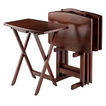 Winsome Wood TV Table Set, Walnut Storage television - $154.26