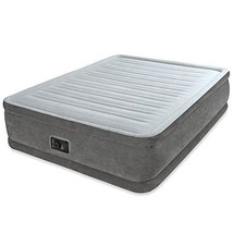 "Queen Size Air Bed Mattress Intex 18"" Built-In Electric Pump Raised Aerobed - $134.94"