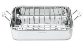 "Cooking Kitchen Accessory 16"" Stainless Rectangular Roaster Rack Chef ... - $128.22"