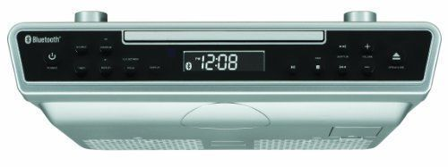 Under Cabinet Radio Clock CD Bluetooth Remote Music Speakers Kitchen Home Stereo