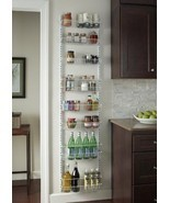 Kitchen Organizer Storage Wall Door Rack Adjust... - $81.78