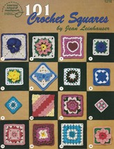 101 Crochet Squares, Classic Crochet Pattern Book ASN 1216 Blocks Flowers & More - $24.95