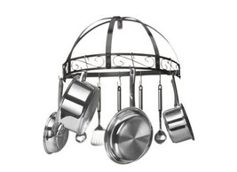 Pot Pan Ladle Rack Hooks Hang Hanger Holder Storage Organizer Wall Mount... - $69.14