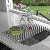 NEW Drying Rack Sink Drainer Dish Holder Roll U... - $57.68