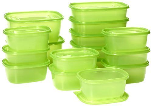 Home Kitchen Organizer 32-Pack Food Container Green Durable BPA-Free Storage/Lid for sale  USA