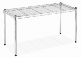 Wide Utility Rack Stand Wire Stackable Shelf Storage Holder Table Kitche... - $46.14