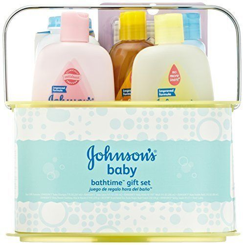 Baby Gift Bath Sets : Johnson s baby bathtime essentials shower gift set shampoo