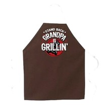 NEW Attitude Apron Grandpa is Grillin Apron, Brown, One Size Fits Most - $34.68