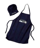 NEW NFL Seattle Seahawks Chef Hat and Apron Set... - $34.24
