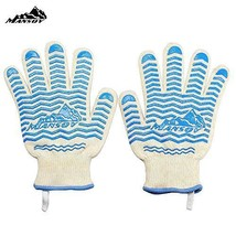 Mansov 932°F Silicone Super Heat Resistant Silicone Grill Gloves and Mi... - $30.10