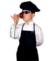 CHEFSKIN Black Apron+ Black Hat Baby Toddler Kid Children Chef Set Lite ... - $28.96