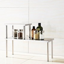 2 Tier Counter Storage Shelf Kitchen Rack Spices Tea Organizer Stainless... - $69.18