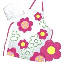 Kids Baking The Little Cook / Child's 3-piece Flower Power Apron Set Sup... - $52.98